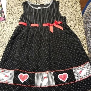 Bonnie Jean size 10 Black Polka Dot Dress